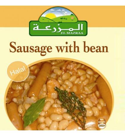 boite de concerve :Haricot cuisiné avec Sausage el mazraa