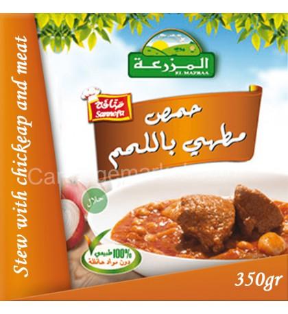 حمص مطهي بلحم الديك الرومي