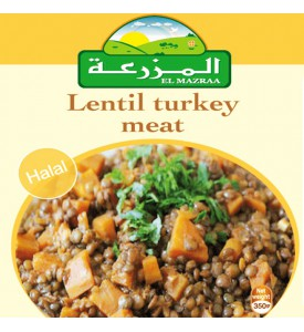 Lentils turkey meat